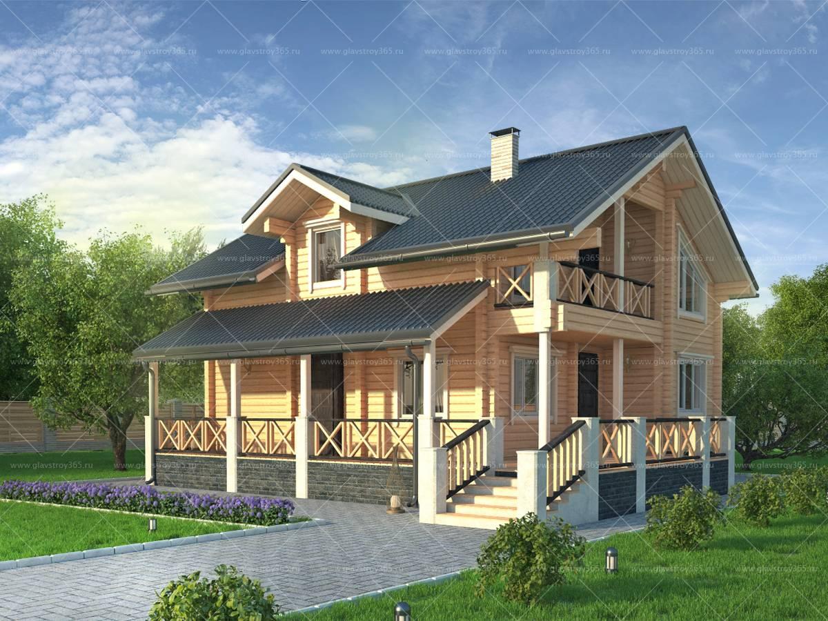 американский дом из клееного бруса