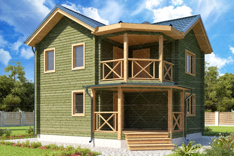 Дом из клееного бруса в два этажа