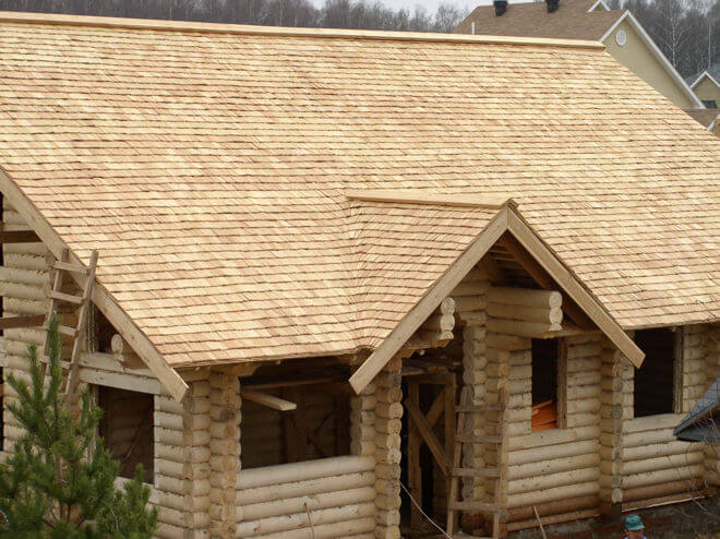 Деревянная крыша своими руками фото