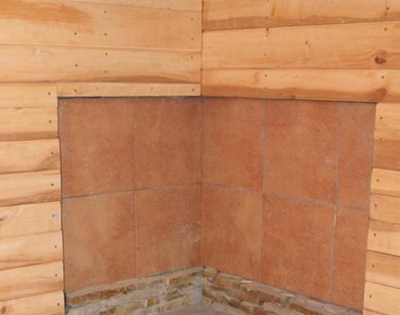 облицовка стен бани