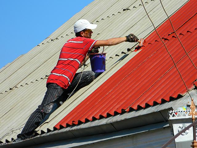 Покраска крыши из металлочерепицы, оцинковки или ондулина