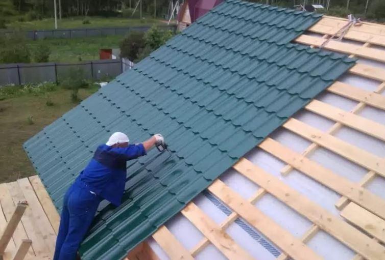 устройство крыши из бруса