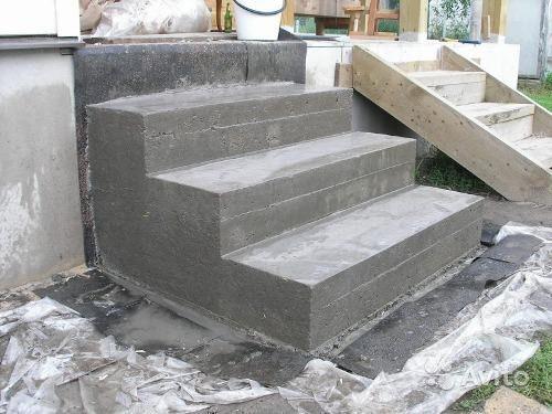 Крыльцо для бани из бетона
