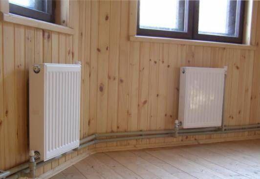 Электрическое отопление дома из бруса