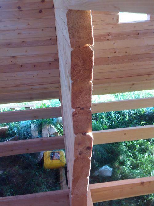 кривые стены в доме из бруса