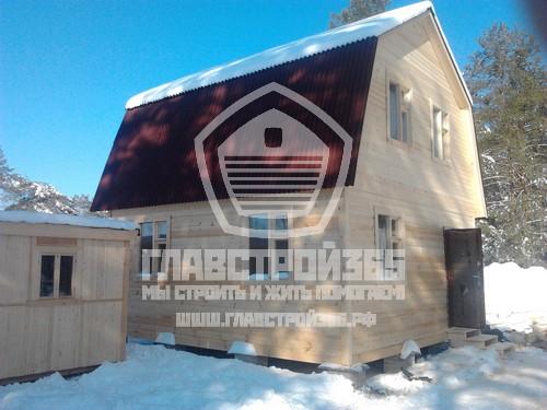 Выгоды строительства дома из бруса зимой