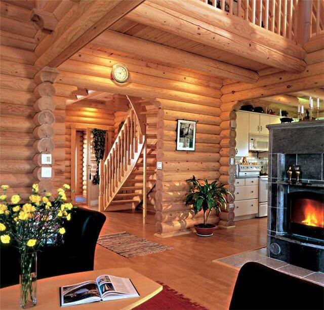 Деревянные дома из сруба интерьер 58