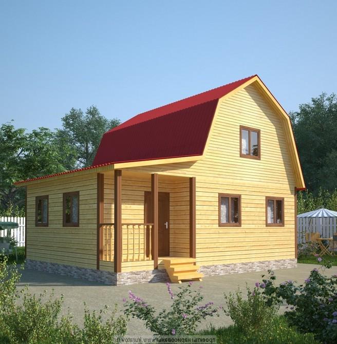 обычный дом из бруса