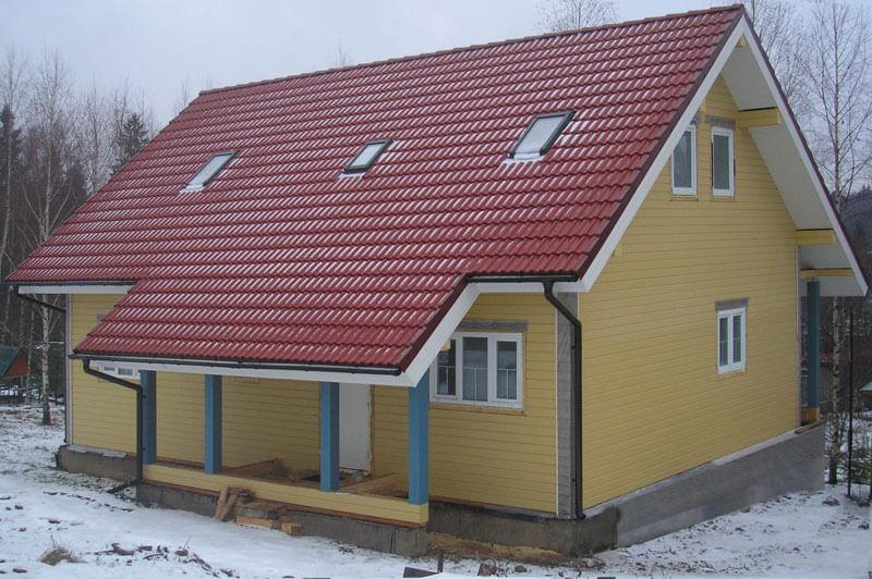 дом на неровном рельефе
