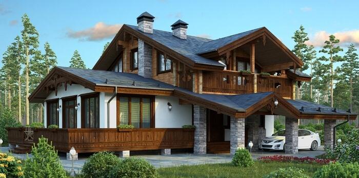 Основные стили деревянных домов