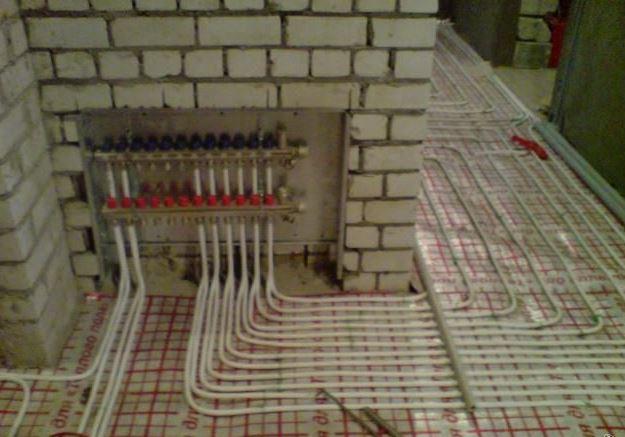 водяное напольное отопление