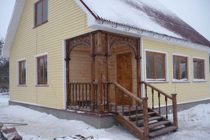 Крыльцо деревянного дома своими руками фото 88