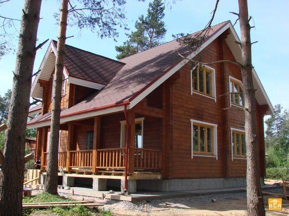 дом из лиственицы
