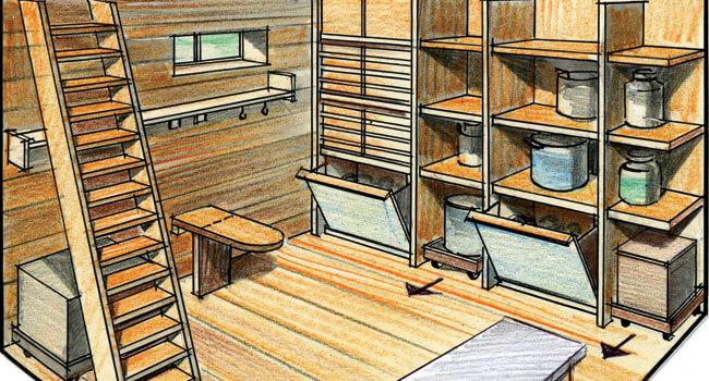 Строительство подвала и погреба в деревянном доме
