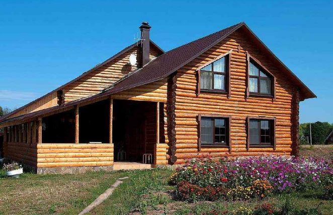 дачный бревенчатый дом