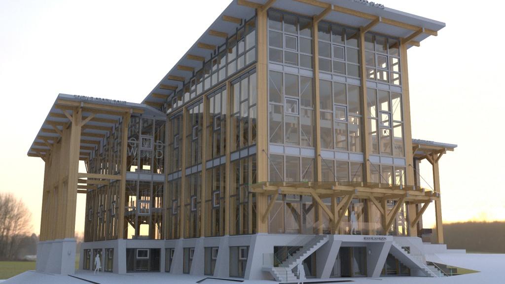 самый большой в России деревянный офис