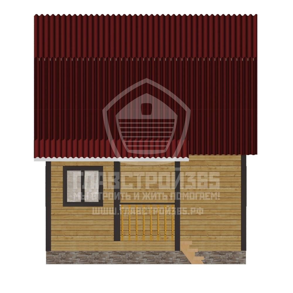 проект деревянного дома 6х6 метров с мансардой