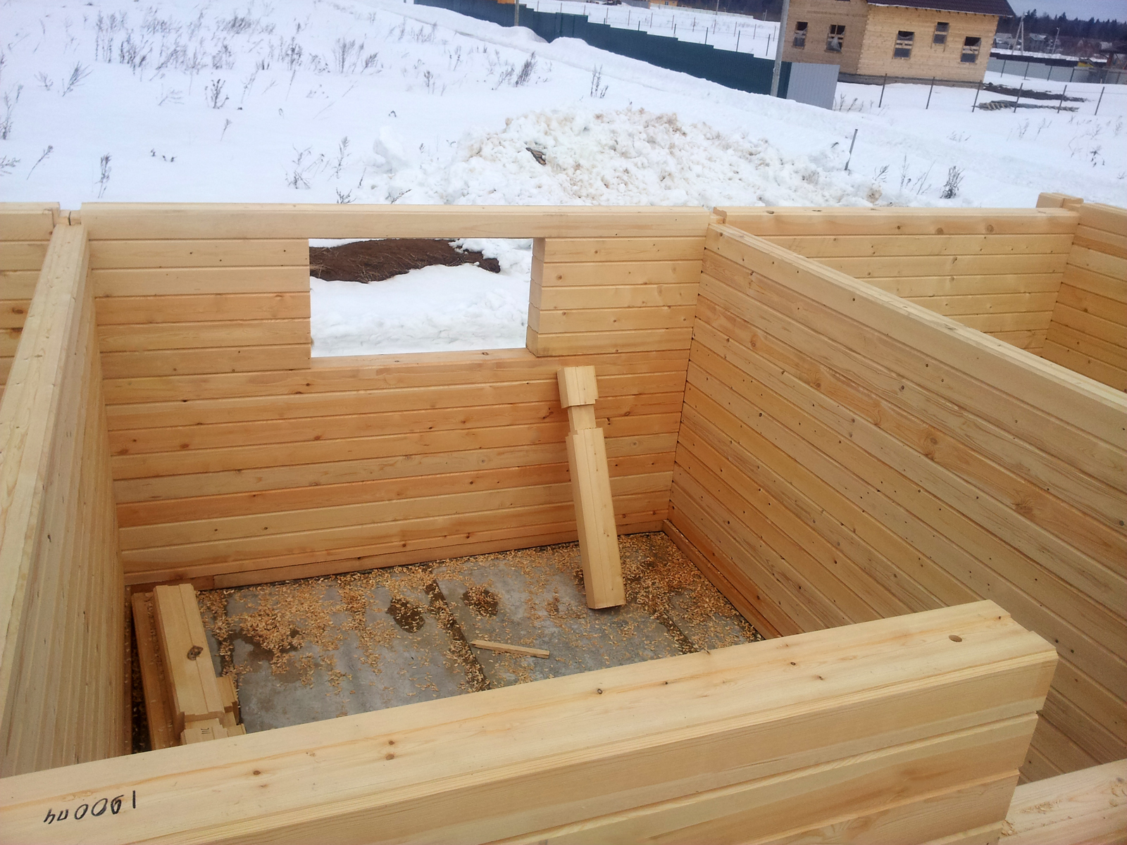 строительство дома из профилированного бруса 10х10