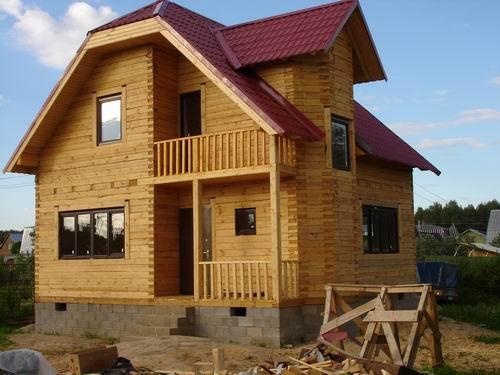 строительство коттеджа из дерева