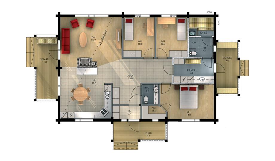 Внутренняя планировка одноэтажных домов фото