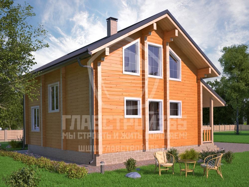 проект дома с большими панорамными окнами