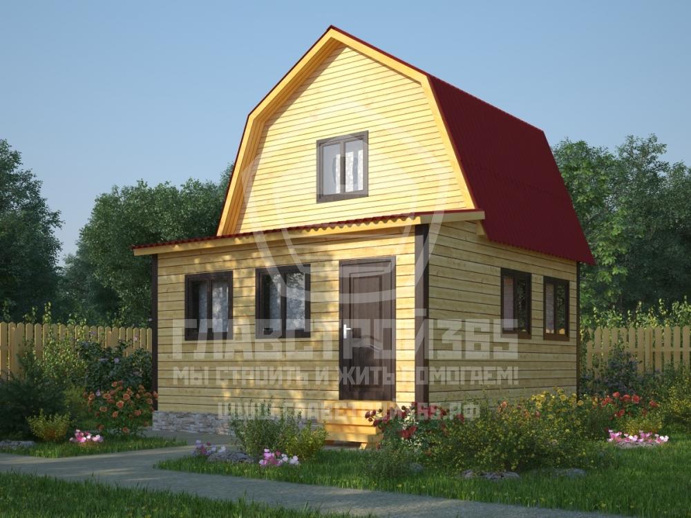 проект дома из профилированного бруса с верандой
