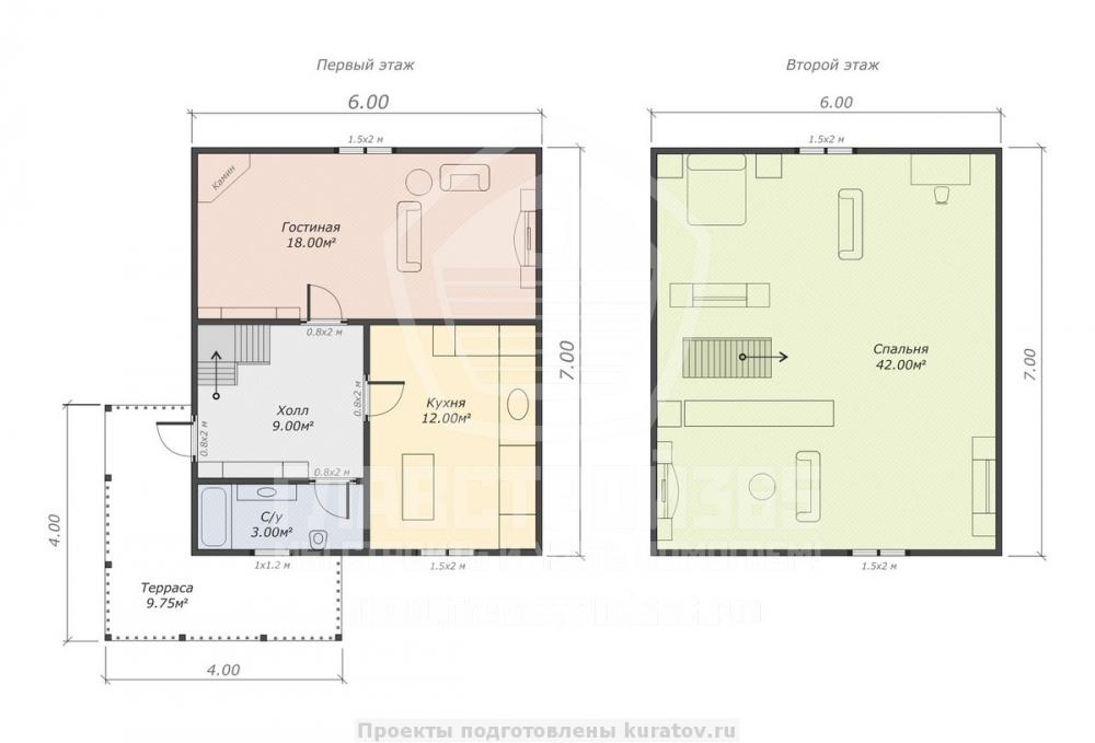 план дома для узкого участка