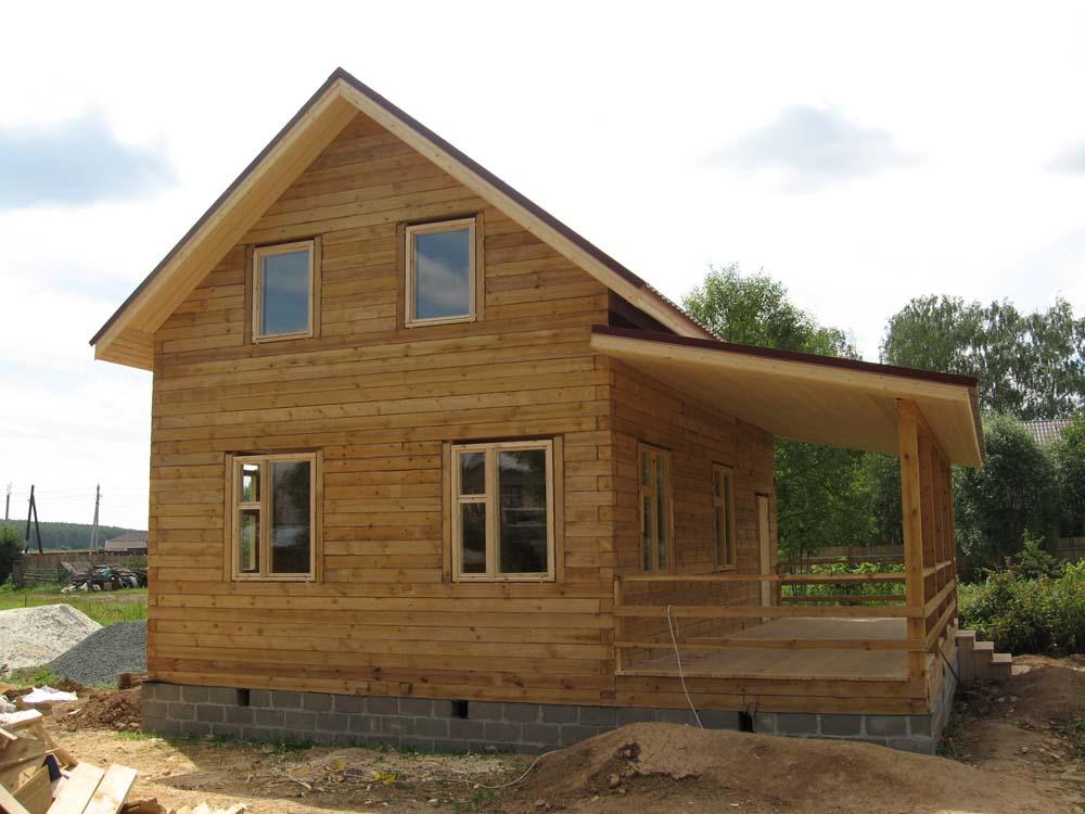 вариант дома из профилированного бруса