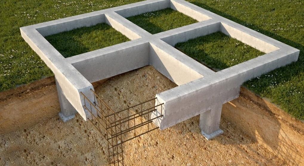 подготовительный этап строительство монолитного столбчатого фундамента