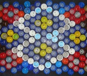 Пластиковые пробки мозаика