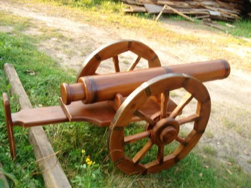 Пушка из дерева для дачи
