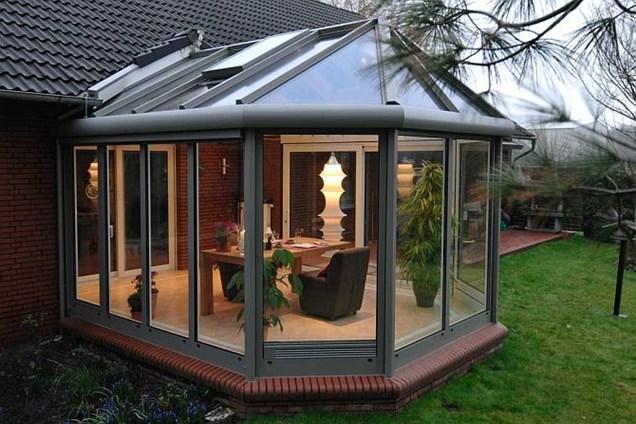 Стеклянная крыша для деревянных сооружений