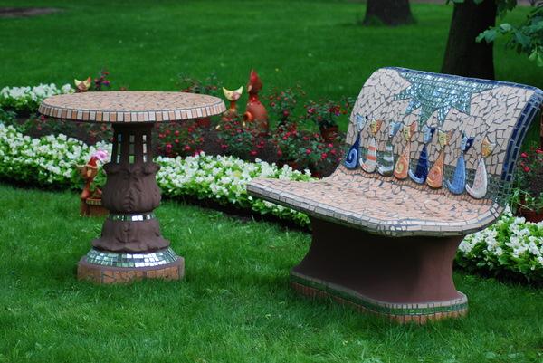 Садовая мебель мозаика
