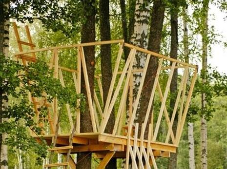 Строительство домика на дереве