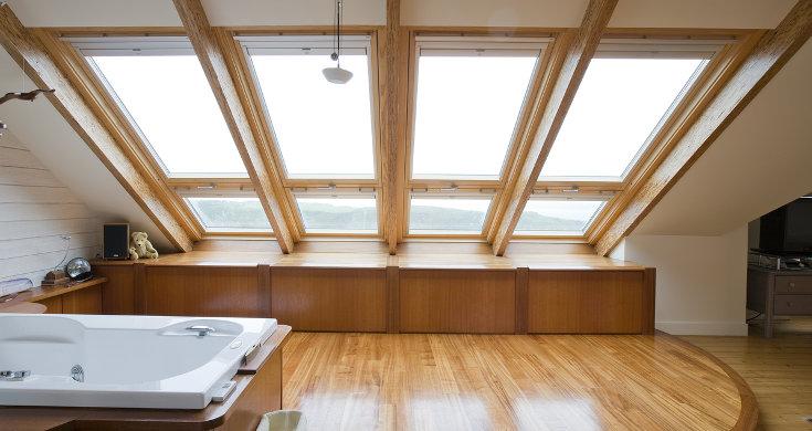 Большие окна для мансарды