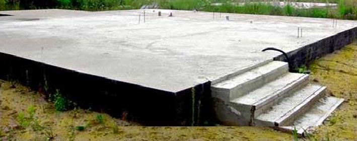 Фундамент из монолитной плиты