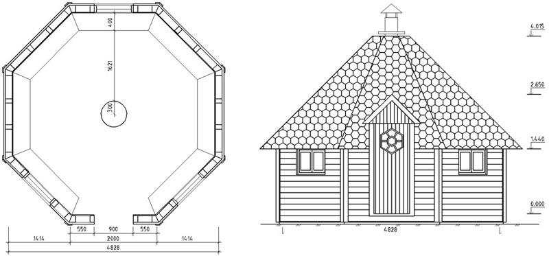 Проект гриль-домика