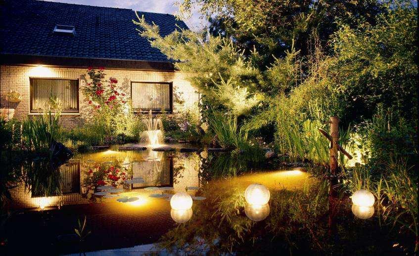 Подсветка для сада – важное решение ландшафтного дизайна
