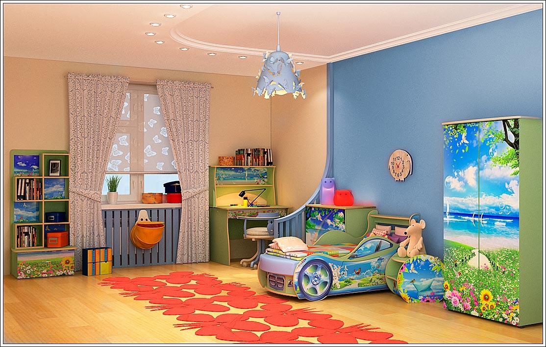 Детская комната в деревянном доме