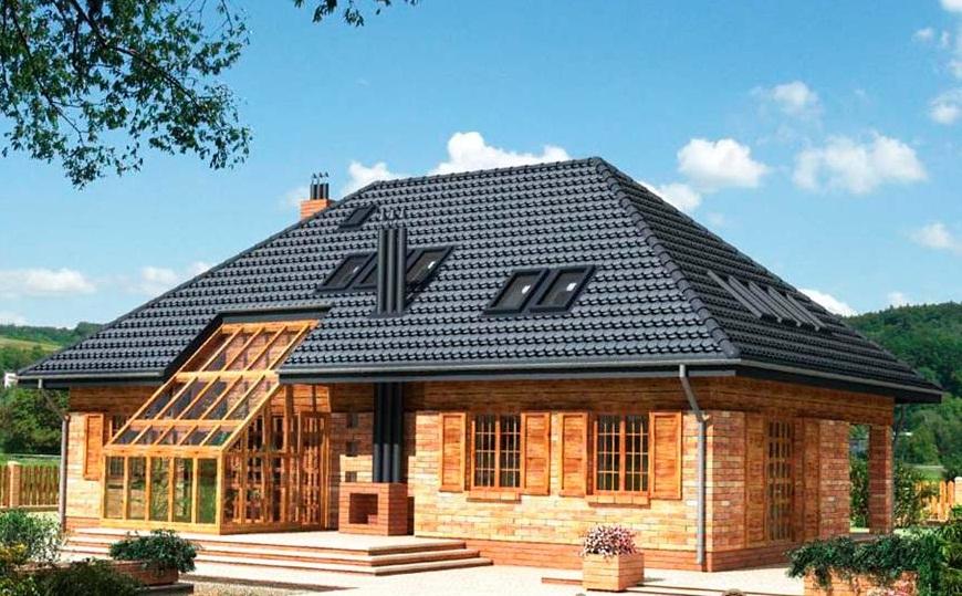 Вальмовая крыша над мансардой