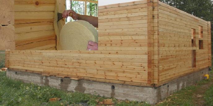 Нужно ли конопатить дом из профилированного бруса?