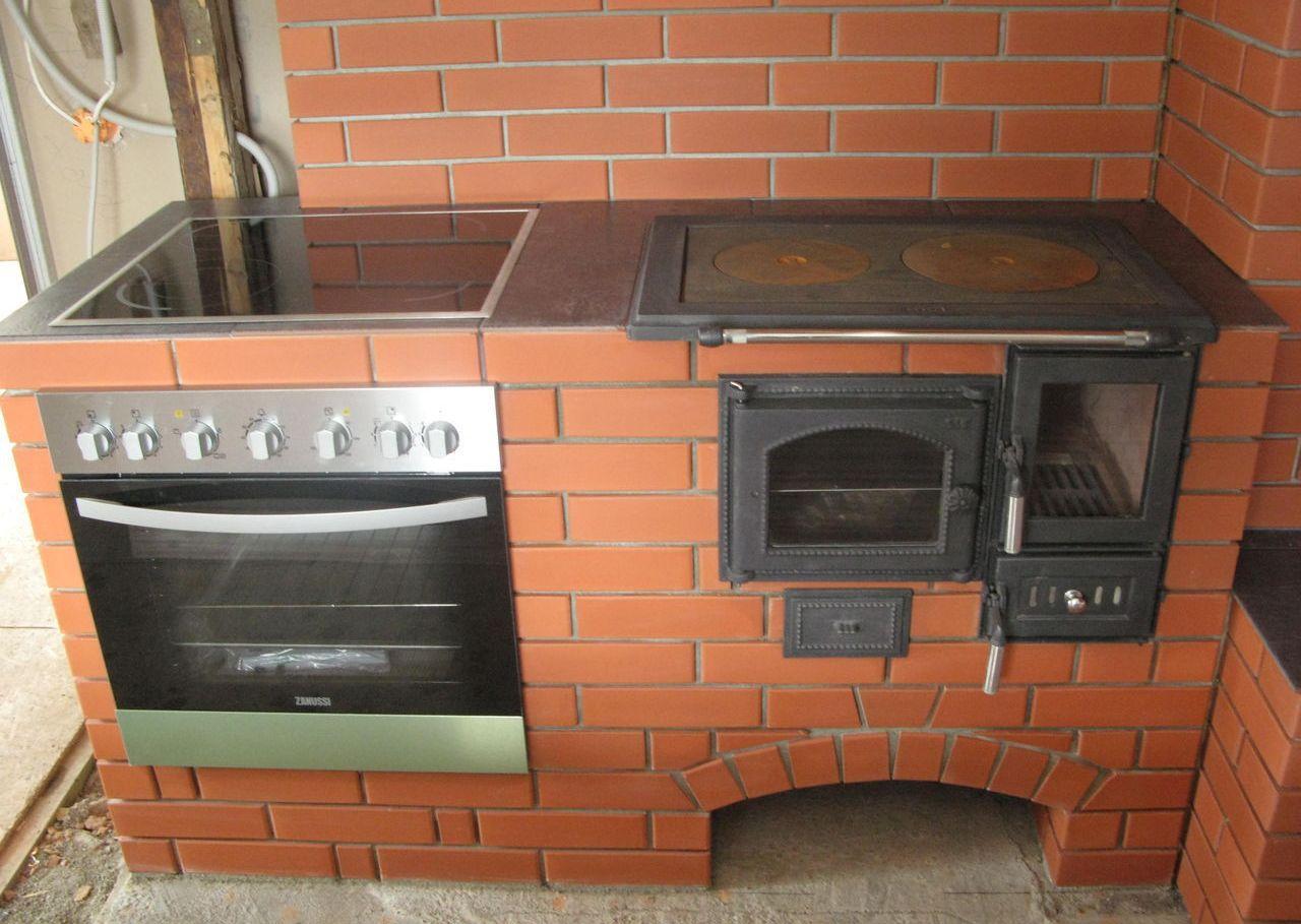 Варочная кирпичная печь в летней кухне своими руками 19