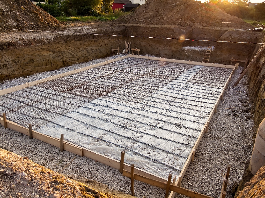 slab foundation construction - HD 1024×768