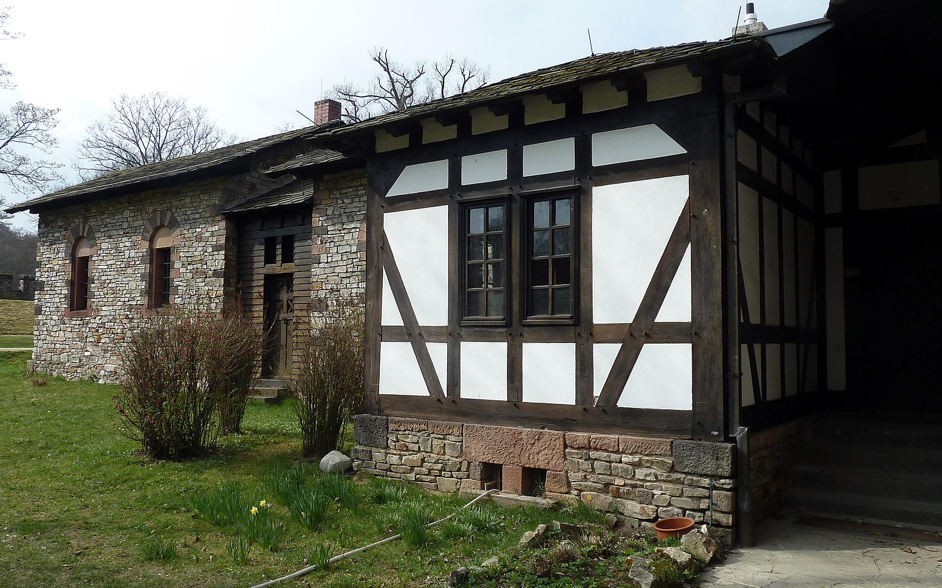 Одноэтажный домик по технологии фахверк