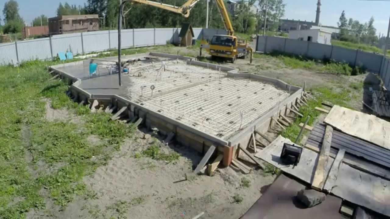 Заливка бетона для изготовления УШП