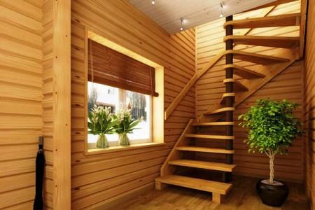 Деревянная конструкция в доме