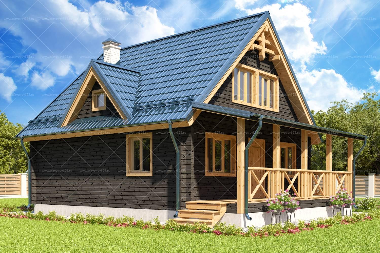 Дом из клееного бруса с мансардой – отличный вариант для проживания и летнего отдыха
