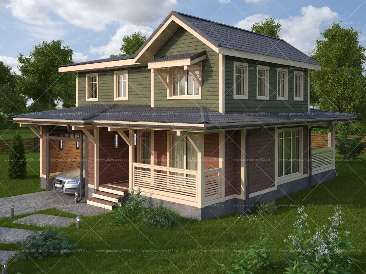 Каркасный дом в два этажа – теплое и комфортабельное жилье для большой семьи