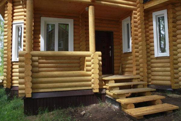 Крыльцо для деревянной бани своими руками