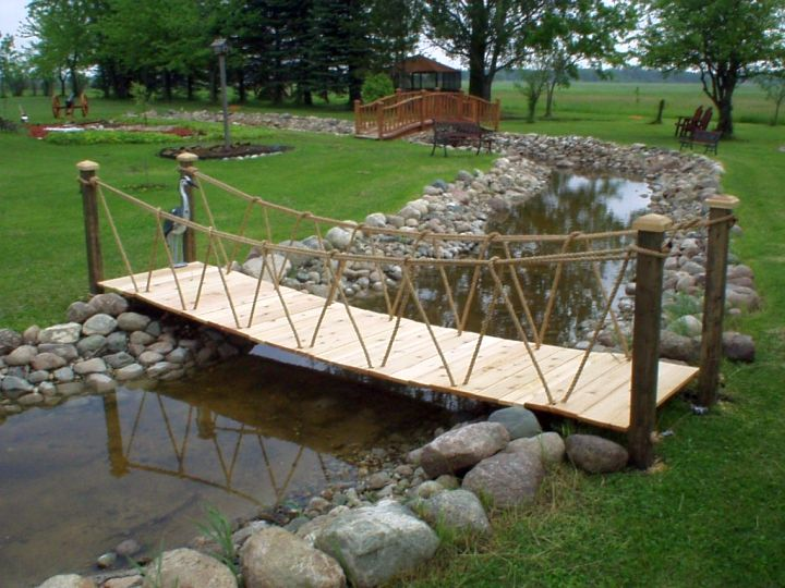 Как сделать мостик для сада своими руками фото